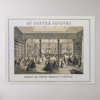 Au Pauvre Jacques: O departamento do tecido Poster