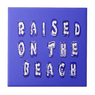 Aumentado na praia azulejo quadrado pequeno