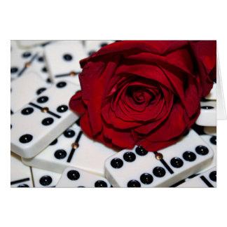 Aumentaram & os dominós cartão comemorativo