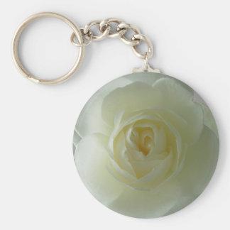 Aumentaram os presentes românticos da flor branca  chaveiro