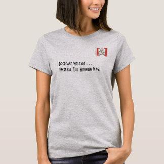Aumente a camisa das mulheres do salário mínimo -