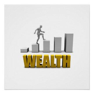 Aumente seu processo da riqueza ou de negócio poster perfeito