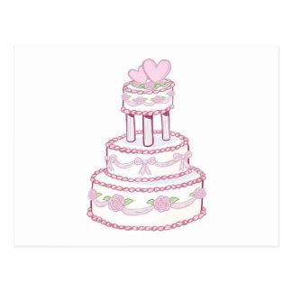 Aumentou e o bolo de casamento do coração cartão postal