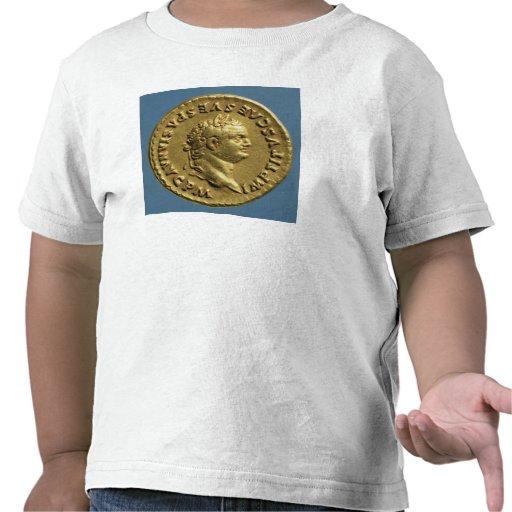 Áureo de Nero que veste uma grinalda do louro T-shirts