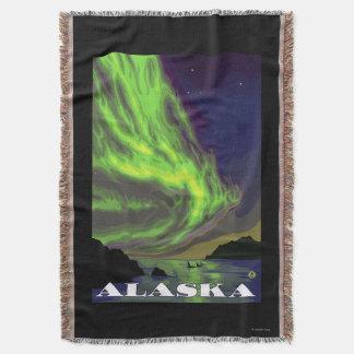 Aurora boreal e viagens vintage das orcas coberta