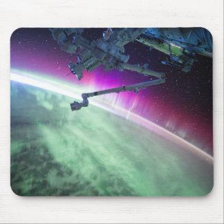 Aurora Borealis do espaço Mouse Pad