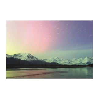 Aurora delicada impressão em canvas