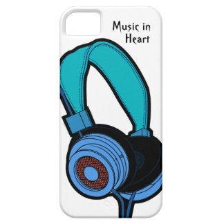 Auscultadores azul capa para iPhone 5