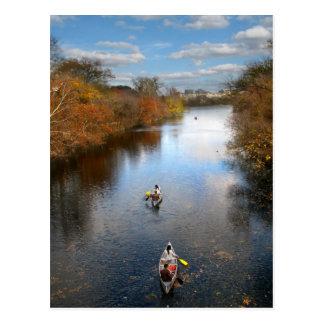 Austin Texas - paisagem das canoas da angra de Bar Cartao Postal