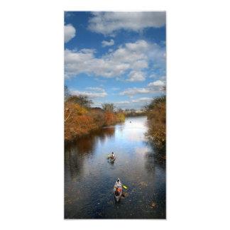 Austin Texas - paisagem das canoas da angra de Impressão De Foto