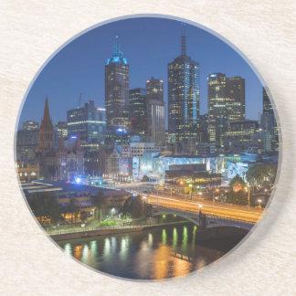 Austrália, Victoria, Melbourne, skyline com Porta-copos De Arenito