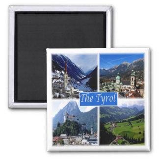 * Áustria - no Tirol Ímã Quadrado