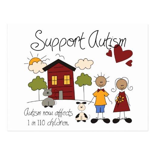 Autismo do apoio - cartão da consciência do autism cartão postal