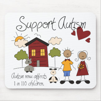 Autismo do apoio - consciência Mousepad do autismo