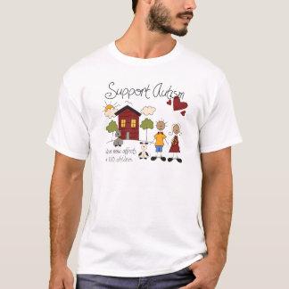 Autismo do apoio - o t-shirt dos homens da