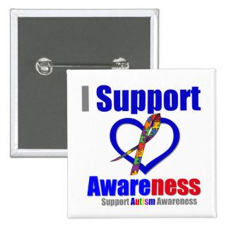 Autismo eu apoio a consciência boton