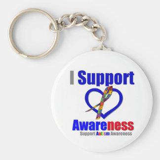 Autismo eu apoio a consciência chaveiro