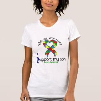 Autismo eu apoio meu filho tshirt