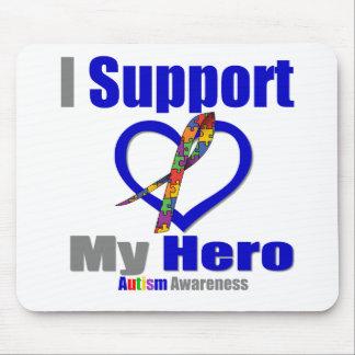 Autismo eu apoio meu herói mouse pads