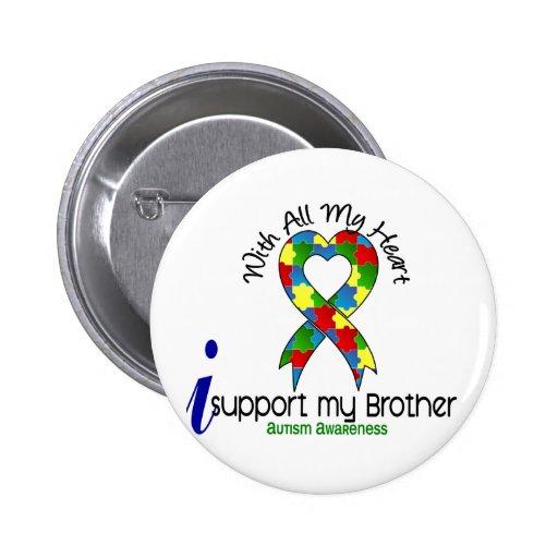 Autismo eu apoio meu irmão botons