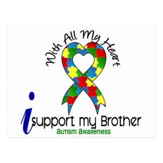Autismo eu apoio meu irmão cartão postal