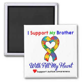 Autismo: Eu apoio meu irmão com todo o meu coração Imas De Geladeira