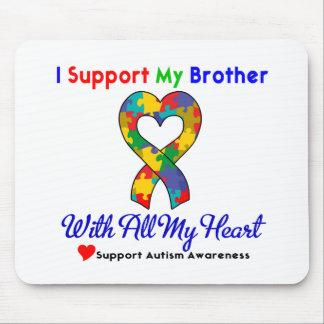 Autismo: Eu apoio meu irmão com todo o meu coração Mousepads