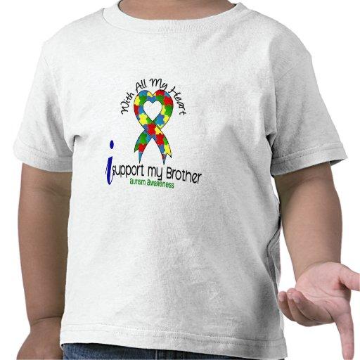 Autismo eu apoio meu irmão tshirt