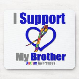 Autismo eu apoio meu irmão mousepad