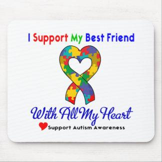 Autismo: Eu apoio meu melhor amigo com todo o meu  Mousepad