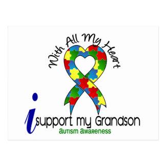 Autismo eu apoio meu neto cartão postal