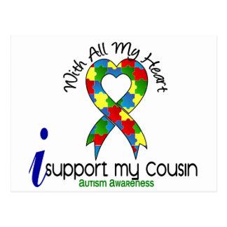 Autismo eu apoio meu primo cartão postal
