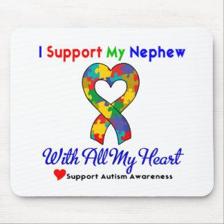 Autismo: Eu apoio meu sobrinho com todo o meu cora Mouse Pad