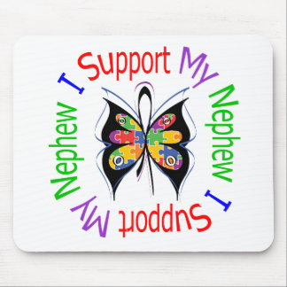 Autismo eu apoio meu sobrinho mouse pads