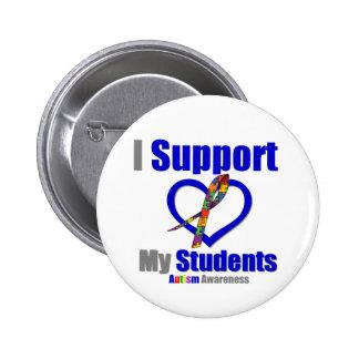 Autismo eu apoio meus estudantes pins