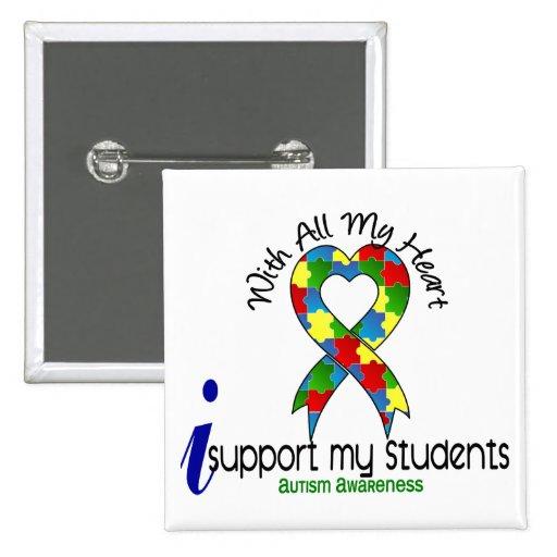 Autismo eu apoio meus estudantes botons