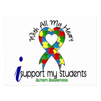 Autismo eu apoio meus estudantes cartão postal