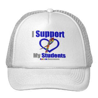 Autismo eu apoio meus estudantes boné