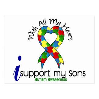 Autismo eu apoio meus filhos cartão postal