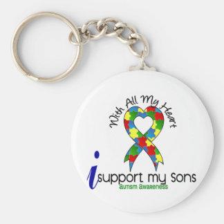 Autismo eu apoio meus filhos chaveiro