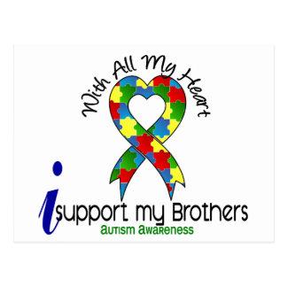 Autismo eu apoio meus irmãos cartão postal
