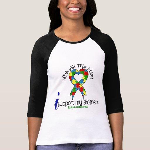 Autismo eu apoio meus irmãos t-shirts