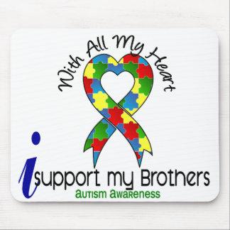 Autismo eu apoio meus irmãos mouse pad