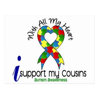 Autismo eu apoio meus primos cartão postal