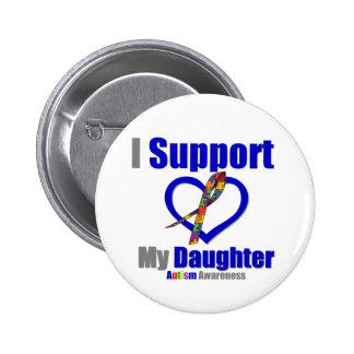 Autismo eu apoio minha filha botons