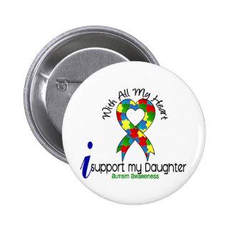 Autismo eu apoio minha filha bóton redondo 5.08cm