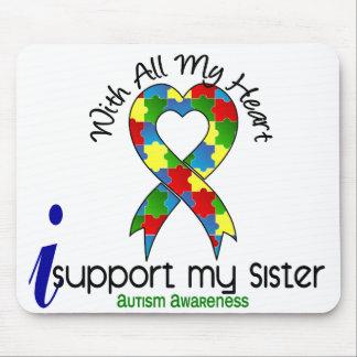 Autismo eu apoio minha irmã mousepad