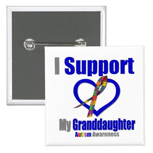 Autismo eu apoio minha neta botons