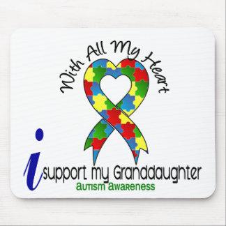 Autismo eu apoio minha neta mouse pad