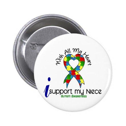Autismo eu apoio minha sobrinha botons